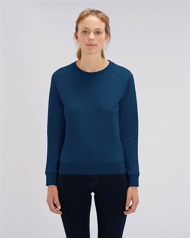 sweat shirt bleu femme personnalisé