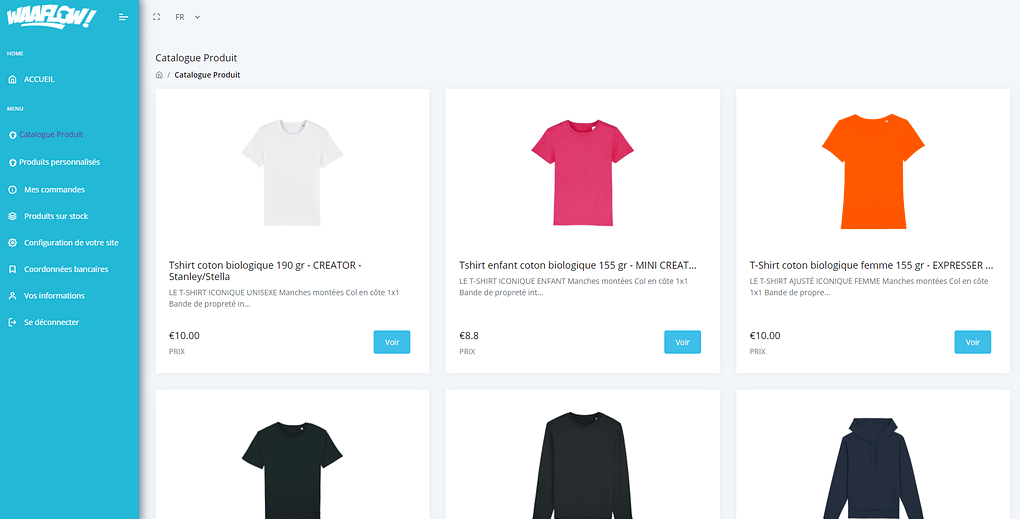 Plateforme dropshipping t shirt