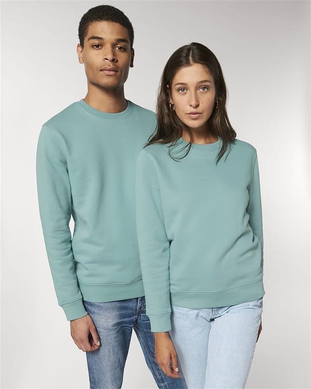sweat shirt vert couple personnalisé