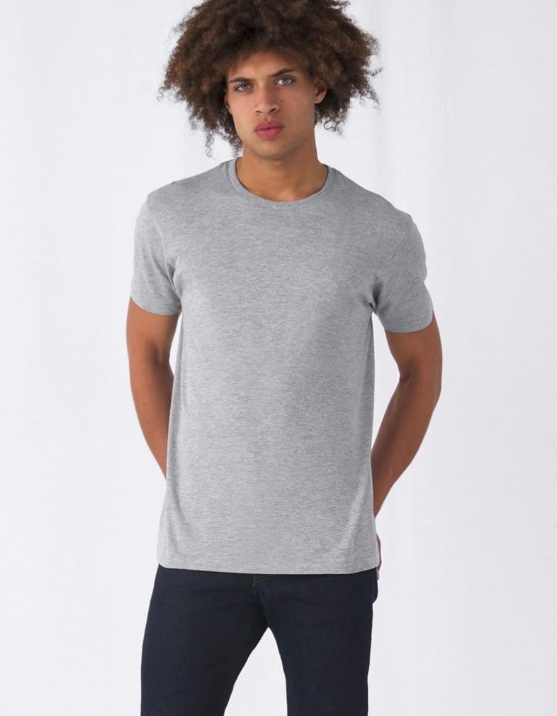 t shirt personnalisé gris homme