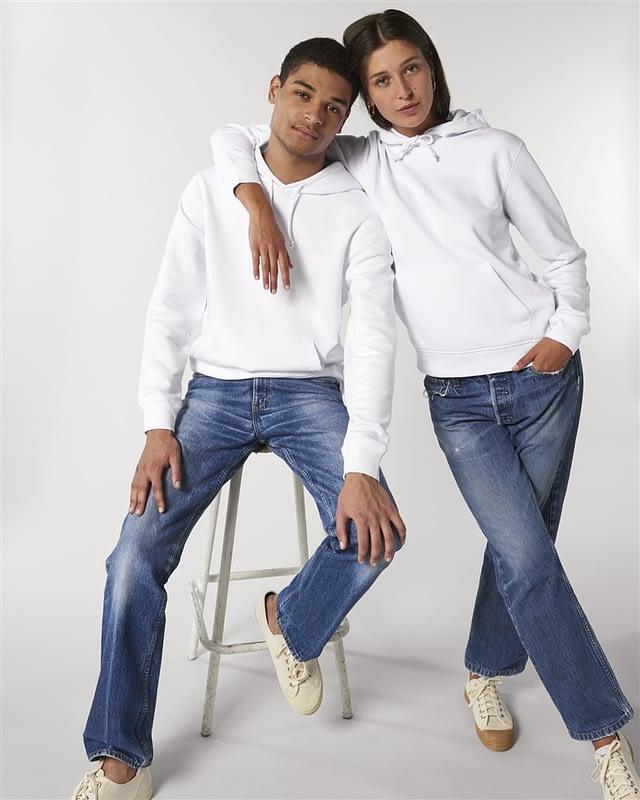 hoodie blanc couple personnalisé